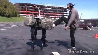 Boston Dynamics robot abuse compilation.