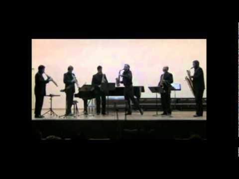 Scaramouche II Moderé Darius Milhaud version quinteto saxofones y saxo alto solista