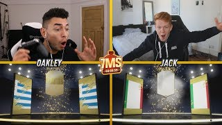 OMG WE PACKED OUR FIRST ICON 🎉 INSANE 7 MINUTE SQUADS vs Jack54 (FIFA 19 ICON PACK)