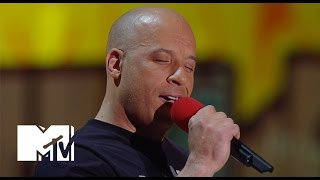Vin Diesel Sings 'See You Again' For Paul Walker At The