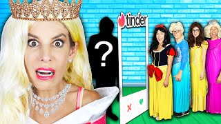 Giant Dating Game in Real Life to Win First Date with Disney Princess Crush! | Rebecca Zamolo
