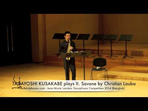 TADAYOSHI KUSAKABE plays II Savane by Christian Lauba
