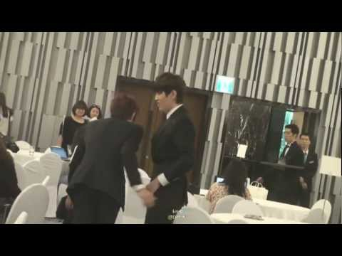 Cute & Funny B1A4 Jinyoung and Sandeul @ Hello Baby Season 6 Press Conference