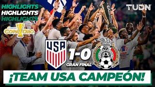 Resumen y goles   Estados Unidos vs México   Copa Oro 2021 - Final   TUDN