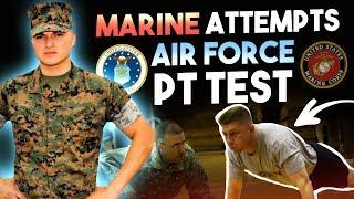 Marine Attempts Air Force PT test