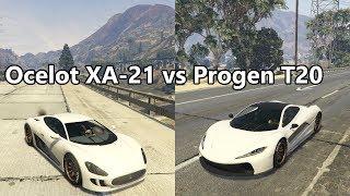 GTA Online: Unreleased Ocelot XA-21 vs Progen T20 race