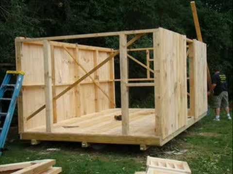 Building A Shed Youtube My Shed Is Leaning Small Wooden