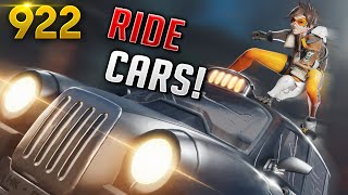 *300 IQ* HOW TO RIDE CARS AS TRACER!! | Overwatch Daily Moments Ep. 922 (Funny and Random Moments)