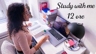 Study with me 12 ore | giornata di studio produttiva