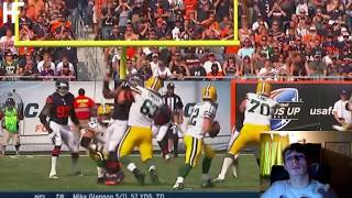 Soccer fans first time reaction to American Football - Best NFL throws of all time