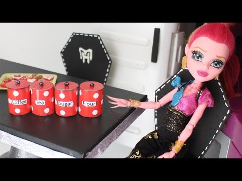 How to make doll food canisters kitchen accessories