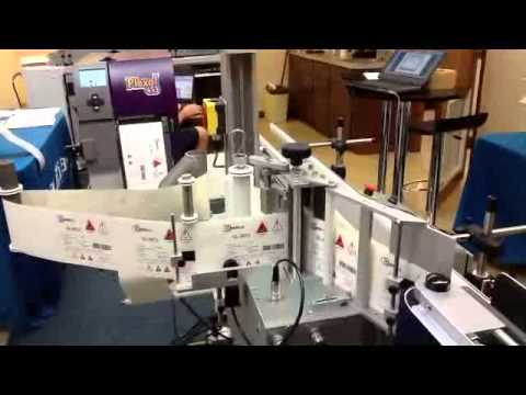 620Se Auto Labe Automatic Labeling Systems w Plexo Two Color Printer for GHS Compliant Labeling