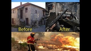 Vila Nova , Vouzela, before and after forest fires in Portugal, wildfires now and then
