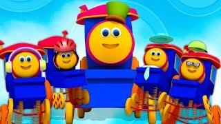 Bob o trem   cinco pequenos bebês   rimas de berçário   Five Little Babies