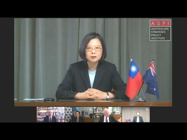 總統對澳洲智庫視訊演說 談台澳戰略合作