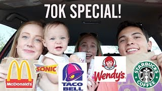 Letting The Person In Front of Me Decide What I Eat for 24 Hours! 70K SPECIAL!!