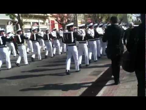Banda Escuela naval Dupleta Penachos rojos - radetzky march 18 septiembre 2012