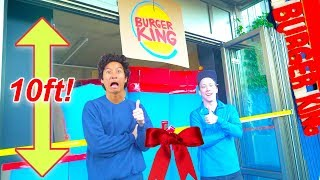 10ft Burger King Box Fort! With Drive Thru! And Soda Machine!!