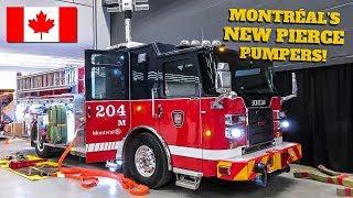 Fleet Fridays | Montréal Fire Service (SIM)'s BRAND-NEW 2018 Pierce MaxiSaber Custom Pumper 204M