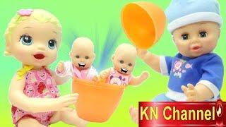 KN Channel NHẶT QUẢ TRỨNG KHỔNG LỒ CÓ EM BÉ BÊN TRONG Đồ chơi trẻ em CỦA BÉ NA