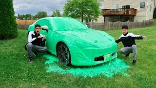 SLIME PRANK ON BROTHERS CAR!