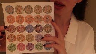 ASMR Eye Exam Roleplay with Color Blindness Test - Soft Spoken