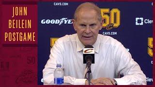 Cavs head coach John Beilein on his first NBA win