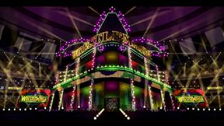WWE Wrestlemania 34: AJ Styles vs Shinsuke Nakamura Entrances Stage Concept Animation