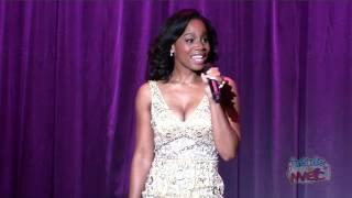 Anika Noni Rose (voice of Tiana) performs