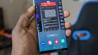 Galaxy Note 9 running Samsung One Ui with Android 9.0 Pie