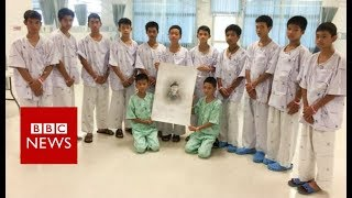 Thai Cave rescue: First video messages from rescued Thai boys - BBC News