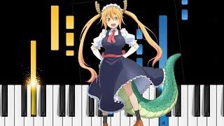 Miss Kobayashi's Dragon Maid OP - Aozora no Rhapsody - Piano Tutorial