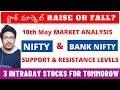 #Intradaystocks  |  Nifty & Bank Nifty Levels | 3 Intraday Stocks For Tomorrow | #StockMarketTelugu