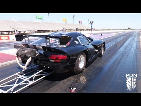 Twin Turbo Outlaw Viper Race Car - testing