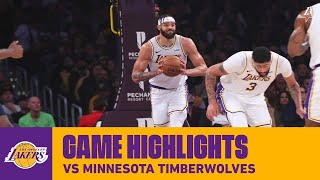 HIGHLIGHTS | Los Angeles Lakers vs. Minnesota Timberwolves
