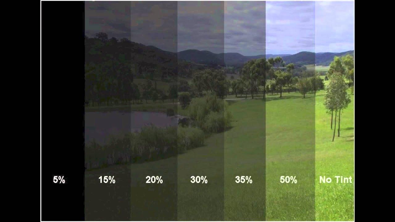Window Tint Chart Youtube