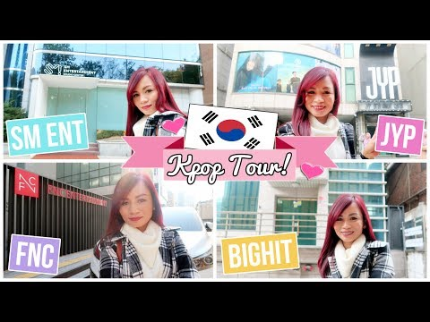 KPOP TOUR in KOREA   Going to SM, BIGHIT, JYP and FNC (2017)