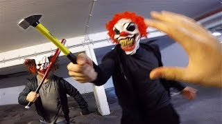 Horror Clowns VS Parkour POV | Creepy Halloween Chase