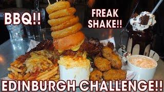 SCOTTISH FOOD CHALLENGE IN EDINBURGH!!