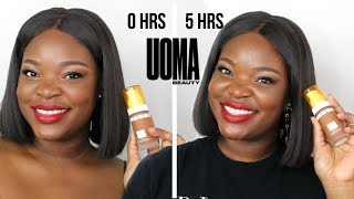 OILY SKIN APPROVED??? UOMA BEAUTY Say What Foundation Review + Wear Test |  Le Beat
