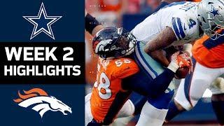 Cowboys vs. Broncos   NFL Week 2 Game Highlights