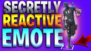 The First Ever SECRETLY REACTIVE Emote In Fortnite!