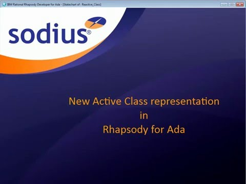 New Active Class representation in IBM Rational Rhapsody for Ada.