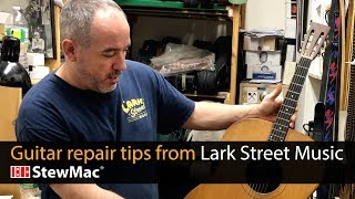 Watch the Trade Secrets Video, Guitar repair tips from Ian Davlin, Lark Street Music