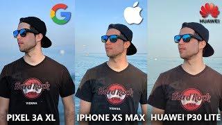 Google Pixel 3a XL vs Huawei P30 Lite vs iPhone XS Max Camera Comparison