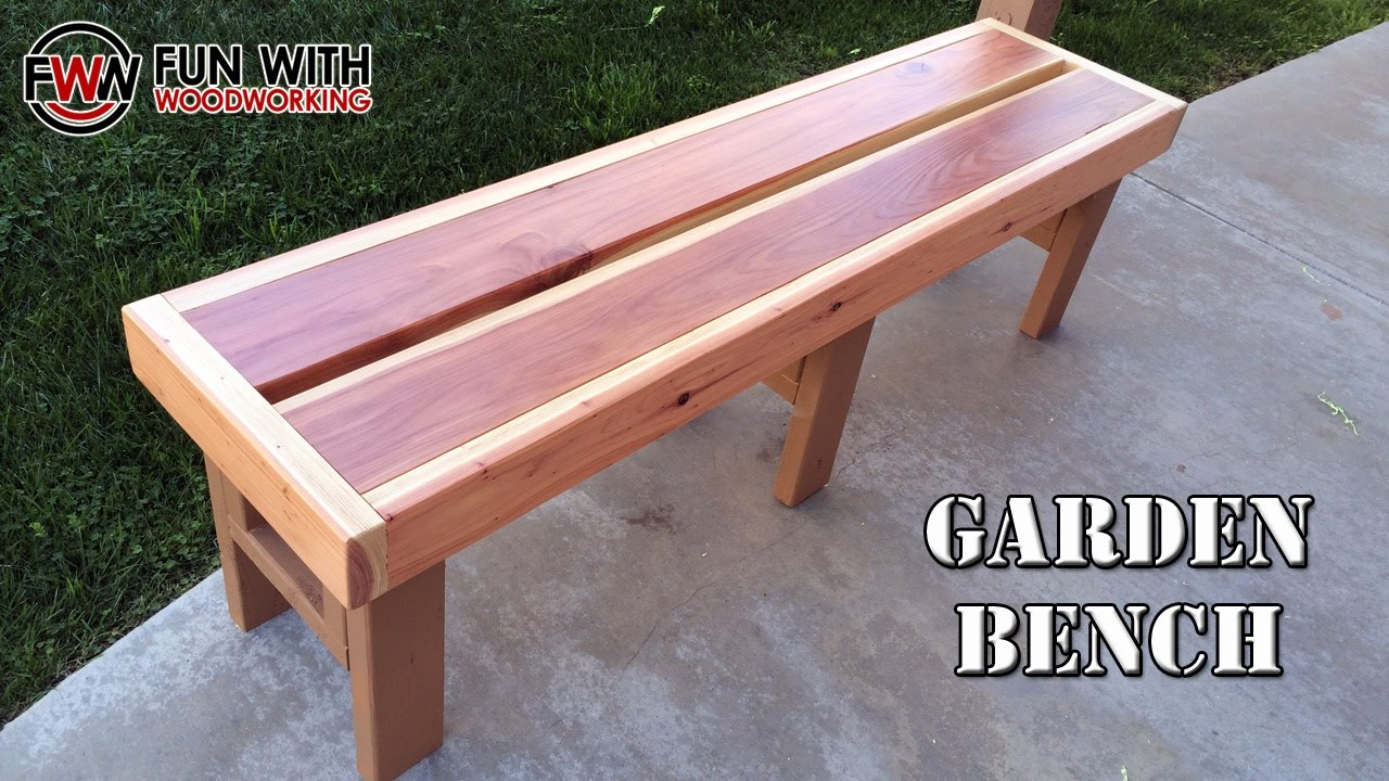 Project How To Build A Quick And Easy Garden Bench Out