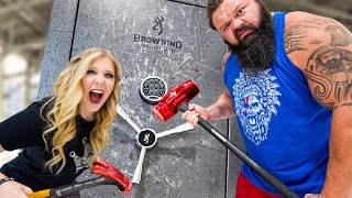 World's Strongest Man vs $10,000 Safe! *unbreakable*