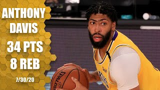 Anthony Davis scores 34 points in the first night of the NBA restart | 2019-20 NBA Highlights