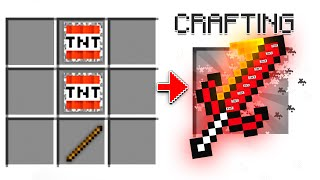 I Crafted A LEGENDARY *TNT SWORD* In Minecraft! (Mods)
