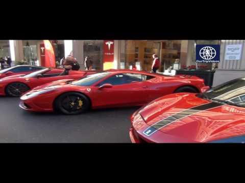 Pictures of Cars and Croissants at Santana Row, San Jose, CA, USA